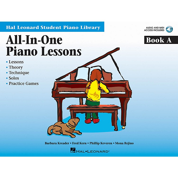 Hal LeonardAll-in-One Piano Lessons Book A Educational Piano International Edition Series Softcover Audio Online