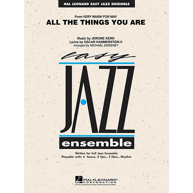 Hal Leonard All the Things You Are Jazz Band Level 2 Arranged by Michael Sweeney