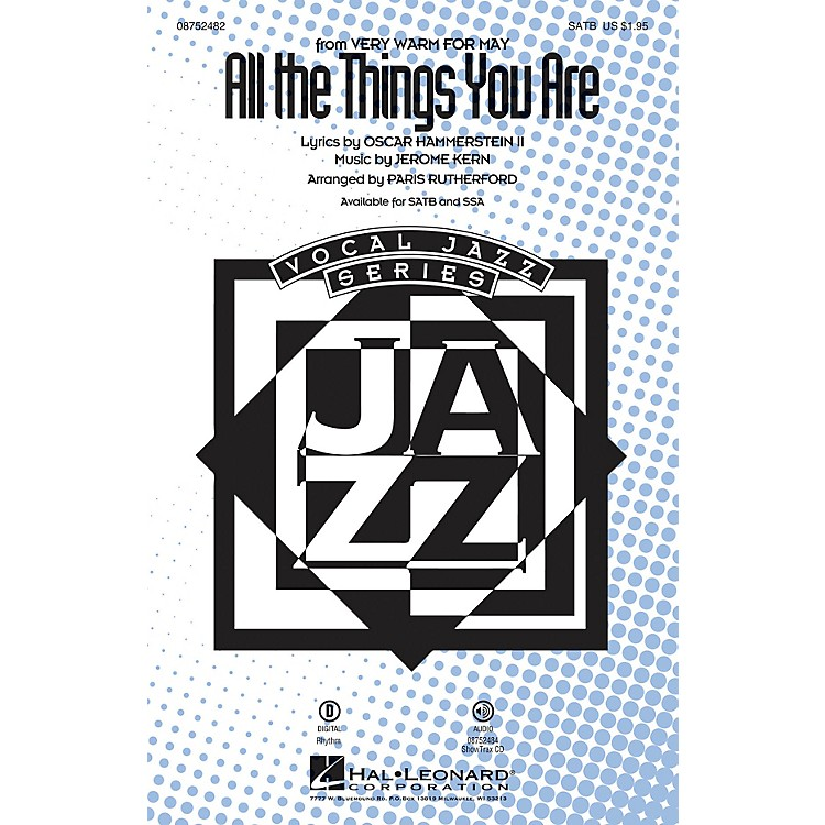 Hal LeonardAll the Things You Are SATB arranged by Paris Rutherford