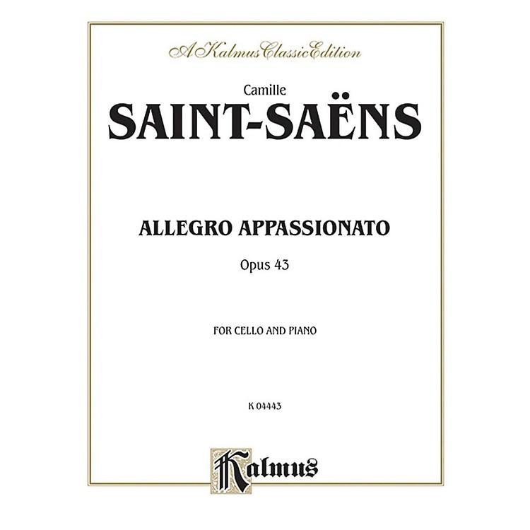 AlfredAllegro Appassionato Op. 43 for Cello By Camille Saint-Sa«ns Book