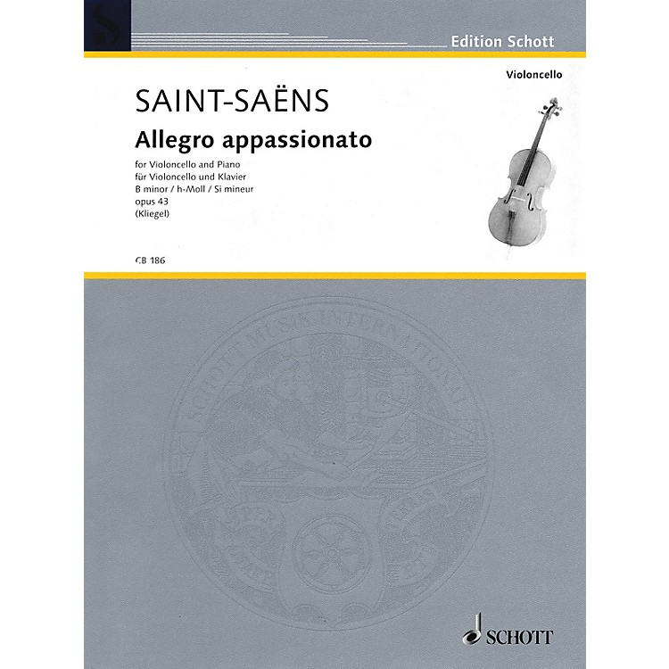 SchottAllegro Appassionato in B Minor, Op. 43 (for Cello and Piano) String Series
