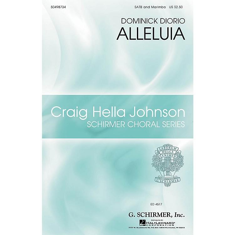 G. SchirmerAlleluia (Craig Hella Johnson Choral Series) SATB Divisi composed by Dominick DiOrio