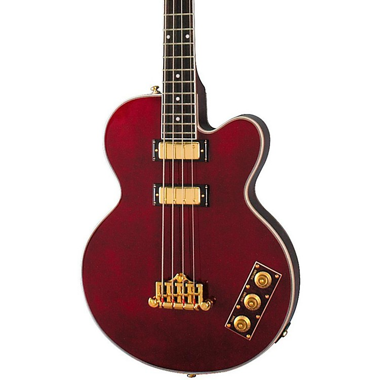 EpiphoneAllen Woody Limited Edition BassWine Red