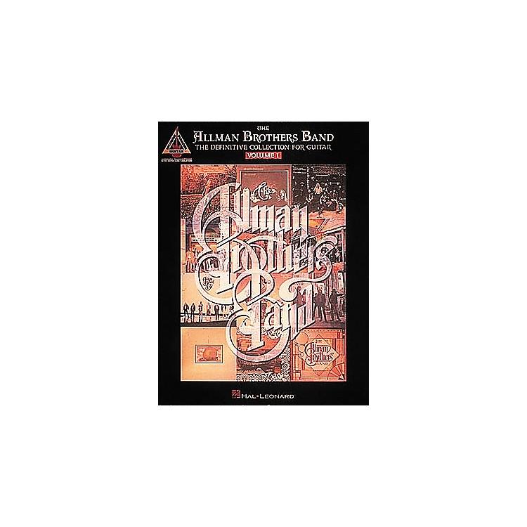 Hal LeonardAllman Bros Definitive Collection Volume 1 Guitar Tab Songbook