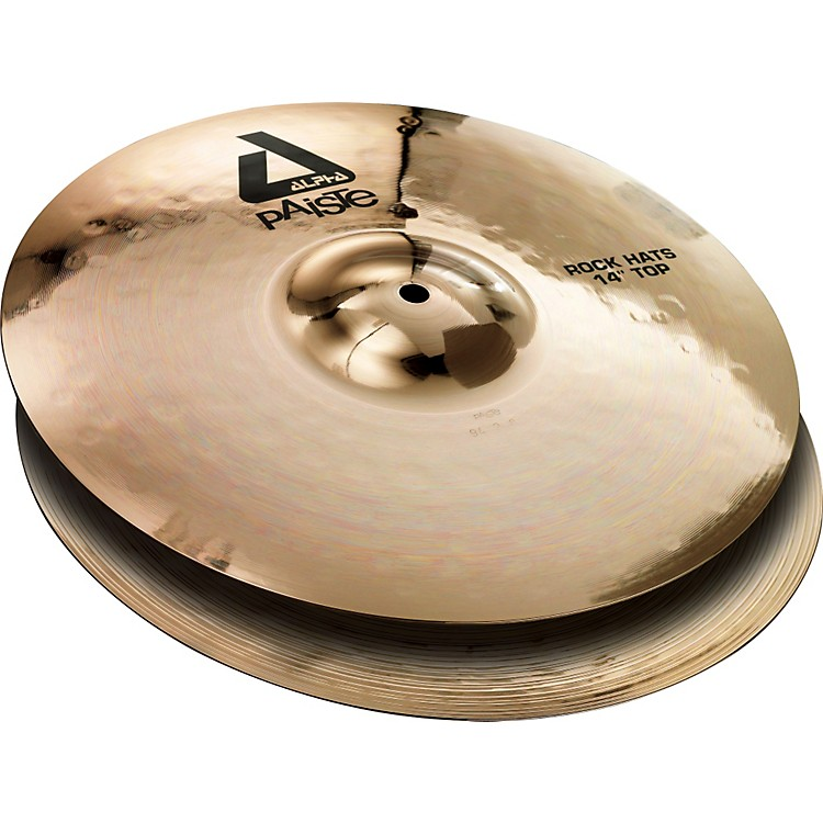 Paiste Alpha Rock Hi-Hat Pair with Brilliant Finish