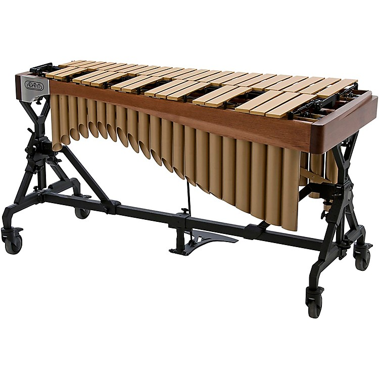 Adams Alpha Series 3.0 Octave Vibraphone, Silver Bars Motor Traveler Frame Walnut Rails Satin Gold Resonators