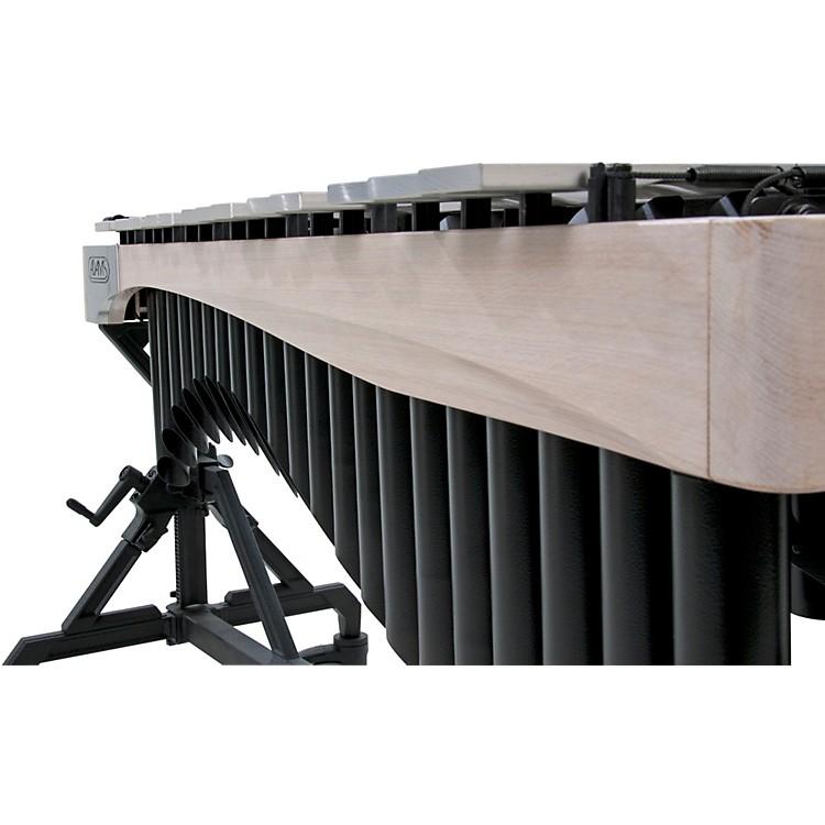 AdamsAlpha Series 3.0 Octave Vibraphone, Silver Bars Motor Traveler Frame White Wash RailsBlack Resonators