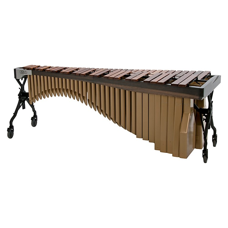 Adams Alpha Series 4.3 Octave Rosewood Marimba with Graphite Rails Satin Gold Resonators