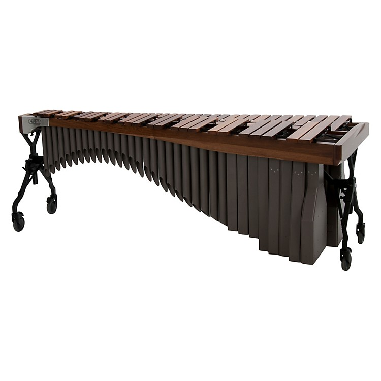Adams Alpha Series 4.3 Octave Rosewood Marimba with Walnut Rails Black Resonators