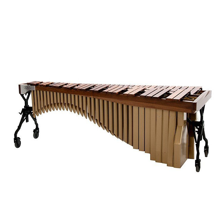 Adams Alpha Series 5.0 Octave Rosewood Marimba with Walnut Rails Satin Gold Resonators