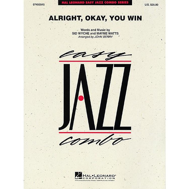 Hal LeonardAlright, Okay, You Win Jazz Band Level 2 Arranged by John Berry