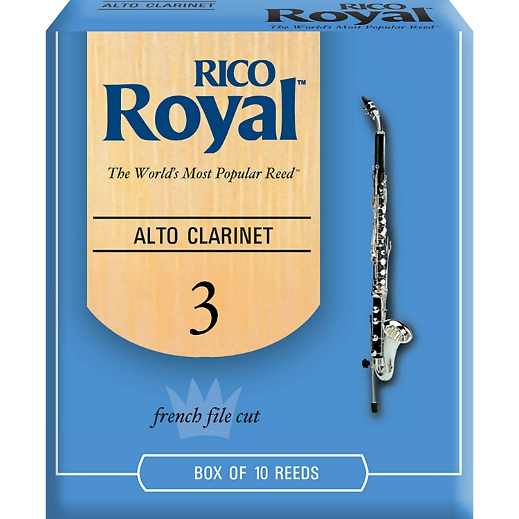 Rico Royal Alto Clarinet Reeds, Box of 10 Strength 3