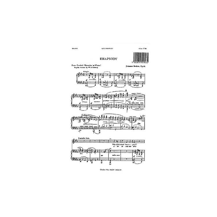 NovelloAlto Rhapsody TTBB Composed by Johannes Brahms