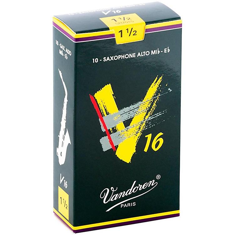 VandorenAlto Sax V16 ReedsStrength 1.5Box of 10