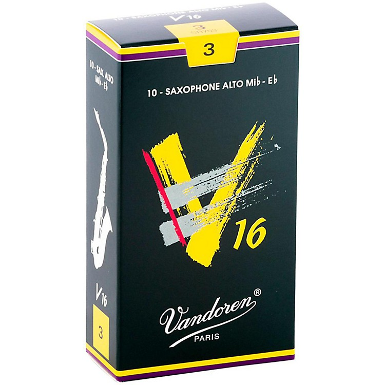 Vandoren Alto Sax V16 Reeds Strength 3 Box of 10