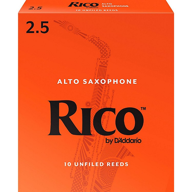 Rico Alto Saxophone Reeds, Box of 10 Strength 2.5