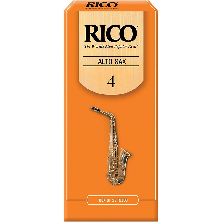 Rico Alto Saxophone Reeds, Box of 25 Strength 4