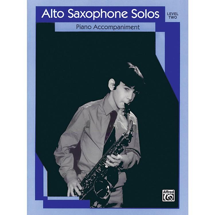 AlfredAlto Saxophone Solos Level II Piano Acc.