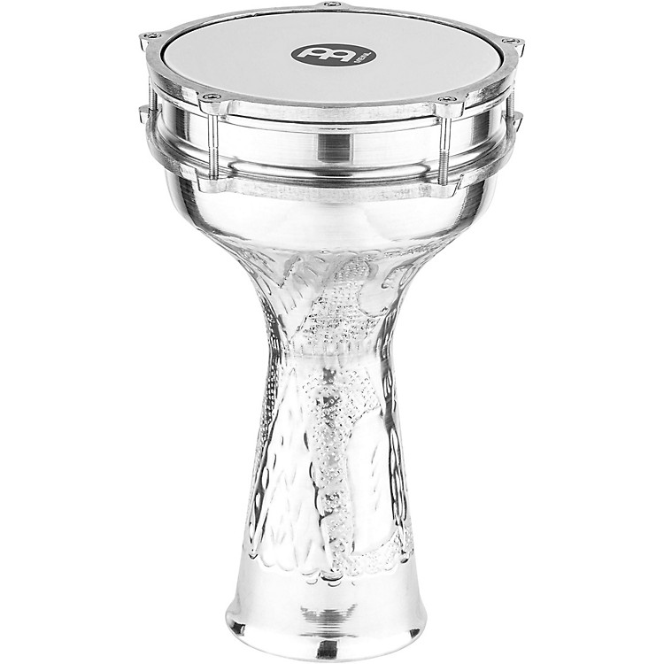 Meinl Aluminum Hand-Hammered Darbuka Silver 5.33 x 9.25 in.