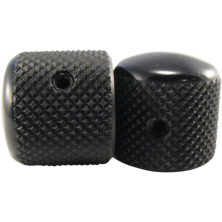 Ernie Ball Aluminum Tele Knobs 2-Pack  Black