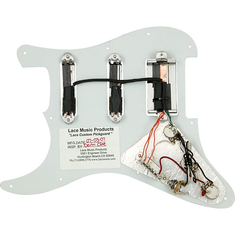 lace sensor dually wiring diagram lace alumitone humbucker wiring diagram lace alumitone pre-loaded pickguard s/s/h | music123 #7