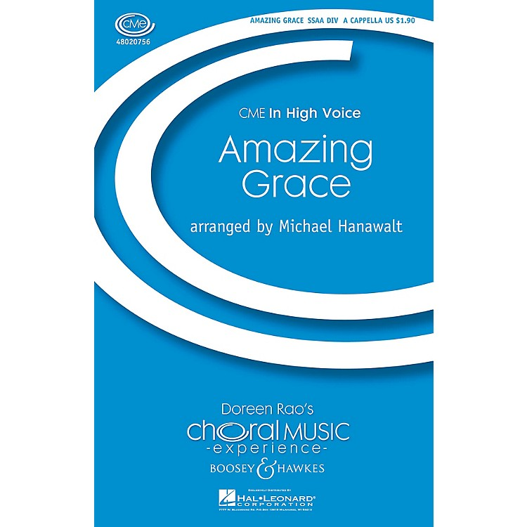Boosey and HawkesAmazing Grace (CME In High Voice) SSAA Div A Cappella arranged by Michael Hanawalt