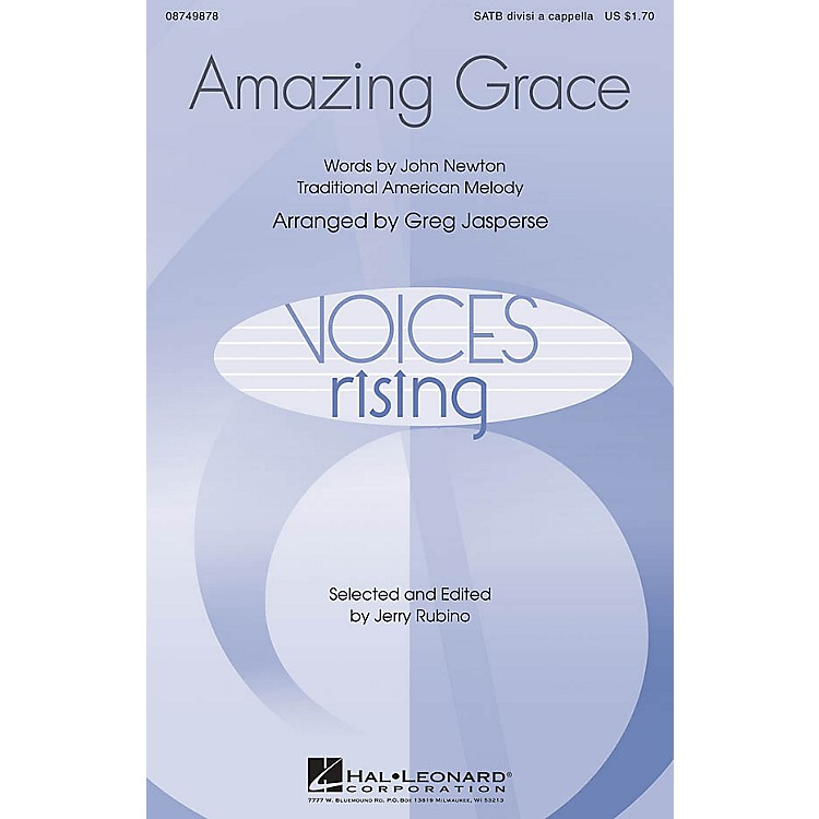 Hal LeonardAmazing Grace SATB DV A Cappella arranged by Greg Jasperse