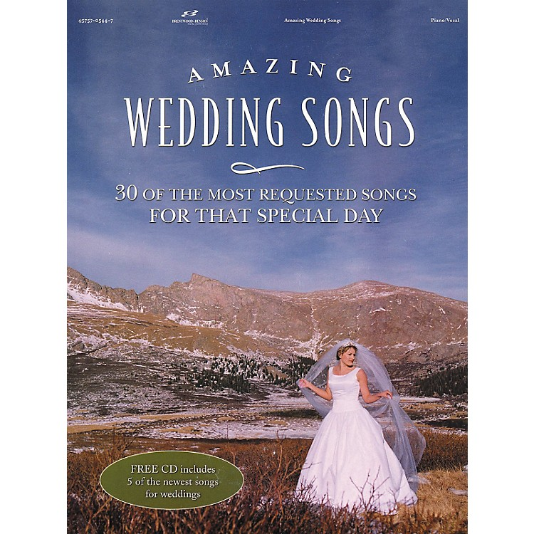 Brentwood-Benson Amazing Wedding Songs (Book/CD)