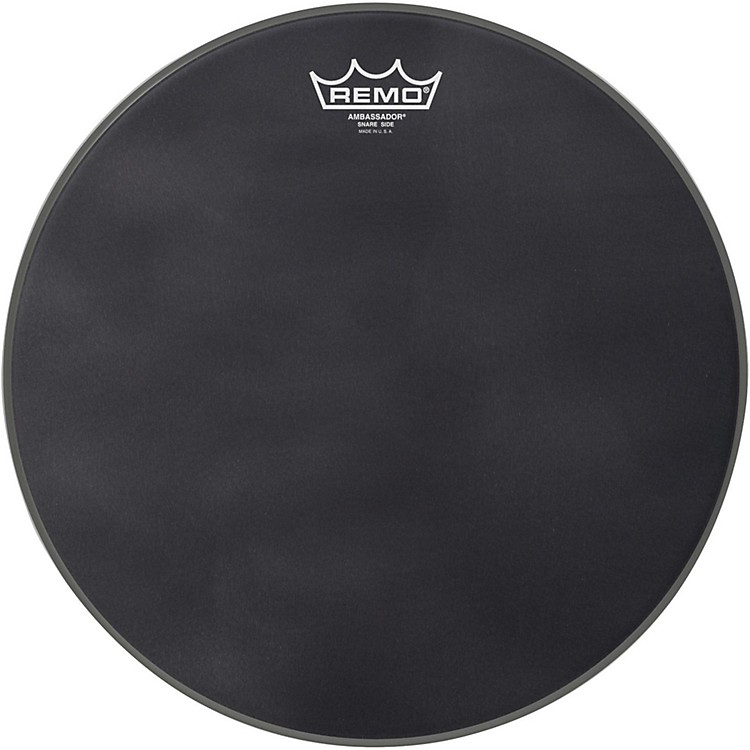 Remo Ambassador Black Suede Snare Side Drum Head Matte Black 14
