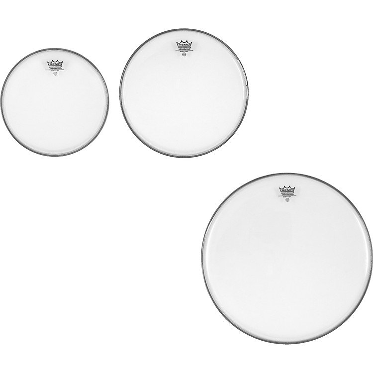 RemoAmbassador Clear New Fusion Tom Drumhead Pack