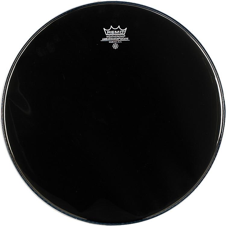RemoAmbassador Snare Drum Head No Collar14 in.Ebony