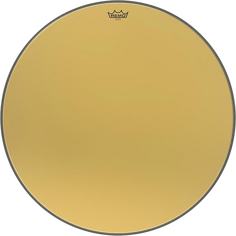 Remo Ambassador Starfire Gold Bass Drumhead 28 in.