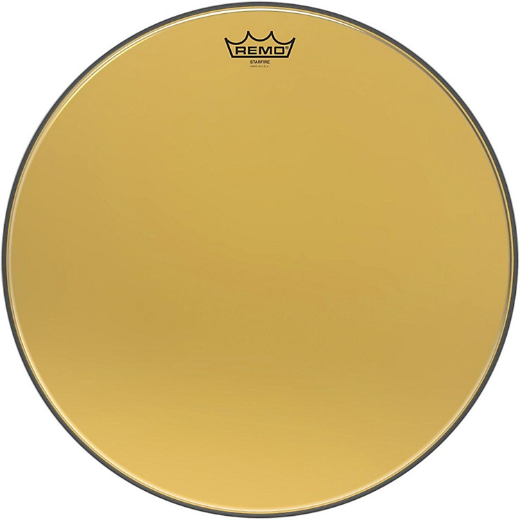 Remo Ambassador Starfire Gold Tom Head 18 in.
