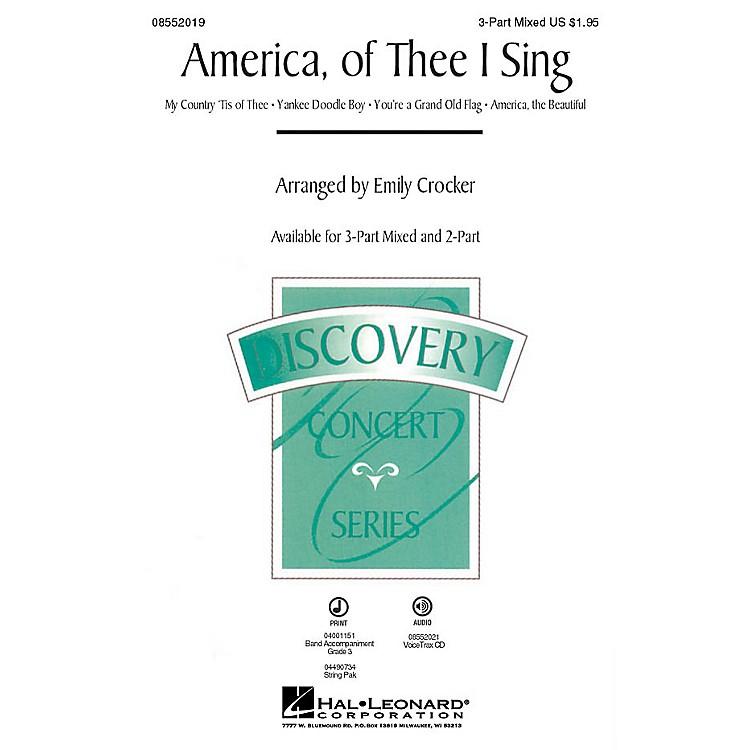 Hal LeonardAmerica, of Thee I Sing (Medley) 2-Part Arranged by Emily Crocker