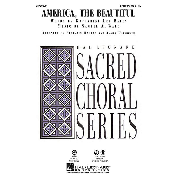 Hal LeonardAmerica, the Beautiful CHOIRTRAX CD Arranged by Benjamin Harlan
