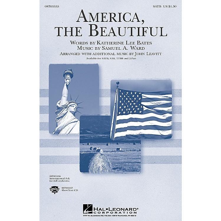 Hal LeonardAmerica, the Beautiful (TTBB) TTBB Arranged by John Leavitt