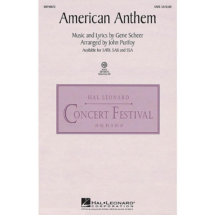 Hal LeonardAmerican Anthem SAB Arranged by John Purifoy