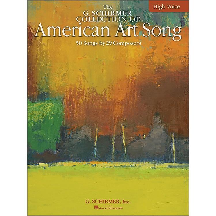 G. SchirmerAmerican Art Song - The G. Schirmer Collection for High Voice