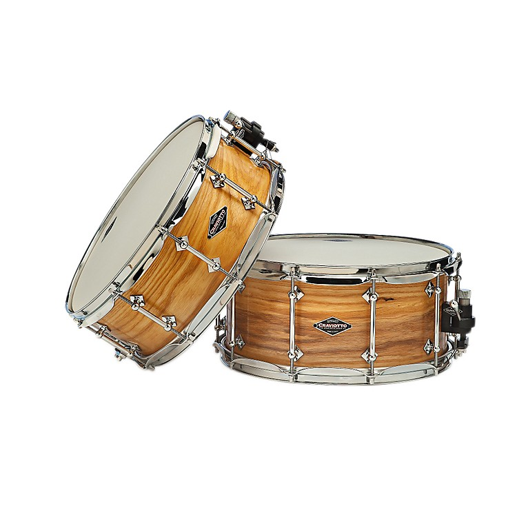CraviottoAmerican Ash Snare Drum with Natural Satin Oil FinishAmerican Ash14x6.5 Inch