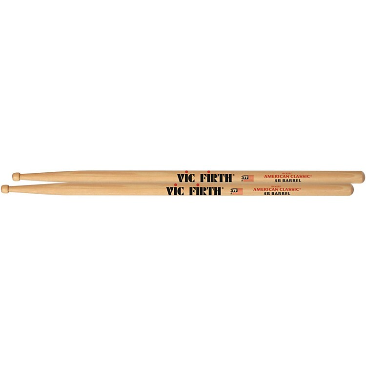 Vic Firth American Classic Drumsticks with Barrel Tip Wood 5B