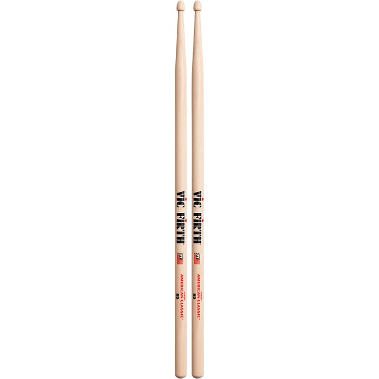 Vic Firth American Classic Hickory Drumsticks Wood 8D