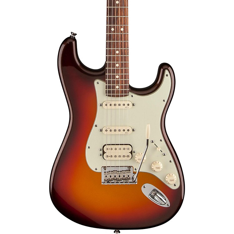 FenderAmerican Deluxe Stratocaster Plus HSS Electric GuitarMystic 3-Color Sunburst