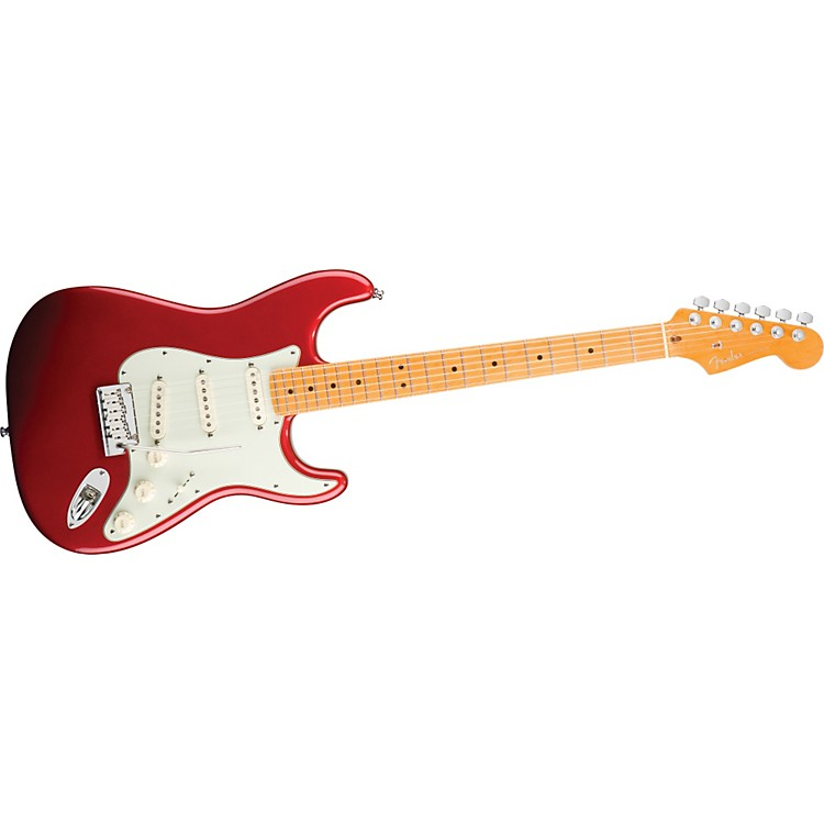 FenderAmerican Deluxe Stratocaster V Neck Electric GuitarCandy Apple Red