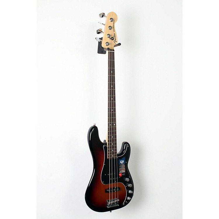 Fender American Elite Rosewood Fingerboard Precision Bass 3-Color Sunburst 888365846286