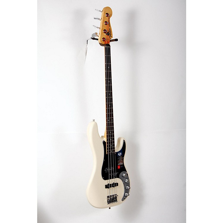 Fender American Elite Rosewood Fingerboard Precision Bass Olympic White 888365898421