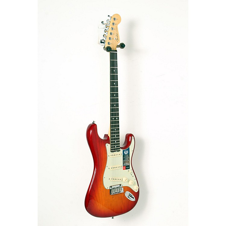 Fender American Elite Rosewood Stratocaster Electric Guitar Aged Cherry Burst 888365851082