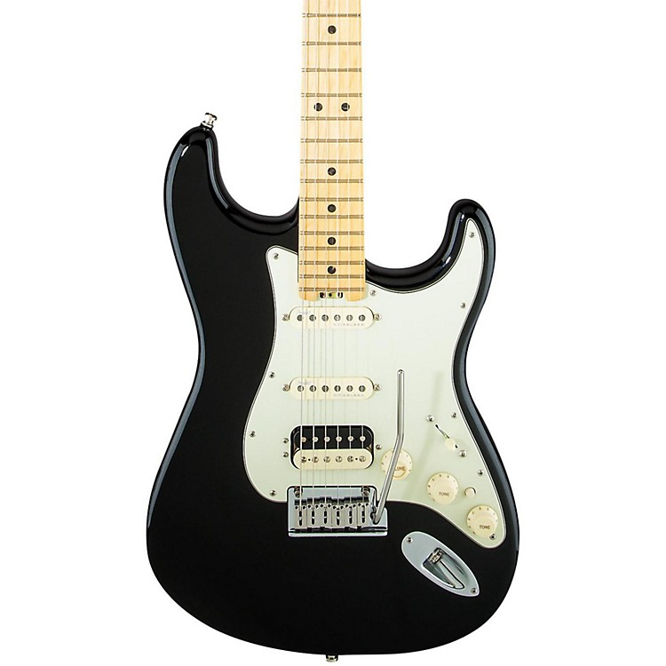 Fender American Elite Stratocaster HSS Shawbucker Maple Fingerboard Electric Guitar Mystic Black