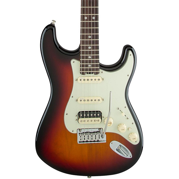 Fender American Elite Stratocaster HSS Shawbucker Rosewood Fingerboard Electric Guitar Autumn Blaze Metallic