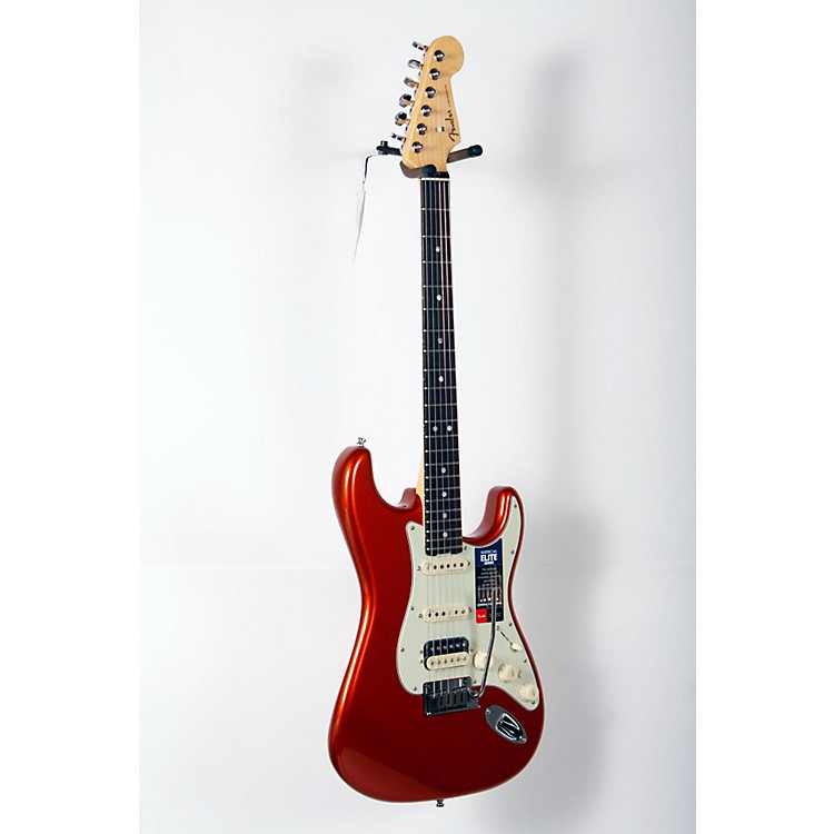 Fender American Elite Stratocaster HSS Shawbucker Rosewood Fingerboard Electric Guitar Autumn Blaze Metallic 888365851310