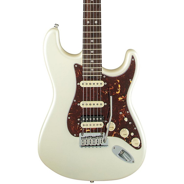 Fender American Elite Stratocaster HSS Shawbucker Rosewood Fingerboard Electric Guitar Olympic Pearl